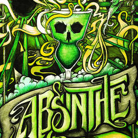Cat Dolch - Absinthe Green Fairy Poster