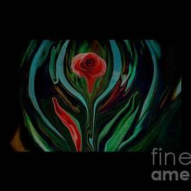 Sherri Of Palm Springs - abstract Art The Rose A Symbol Of Love