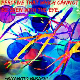 Aurelio Zucco - Abstract Artwork With Miyamoto Musashi Quote