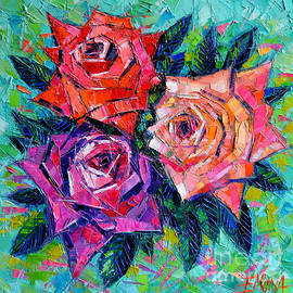 Mona Edulesco - Abstract Bouquet Of Roses