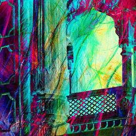 Sue Jacobi - Abstract Colorful Window Balcony Exotic Travel India Rajasthan 1a