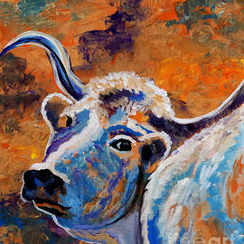 Janice Rae Pariza - Abstract Cow Art