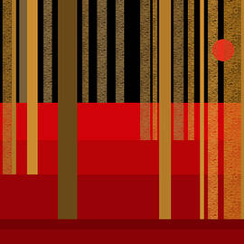 Val Arie - Abstract Dreamscape - Red and Gold