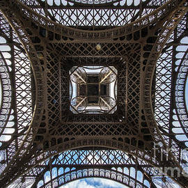 Abstract Eiffel Tower Looking Up 3 - Mike Reid