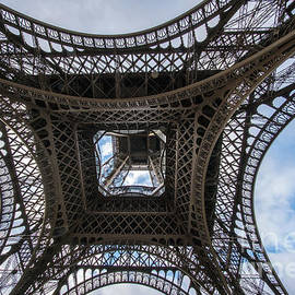Abstract Eiffel Tower Looking Up - Mike Reid