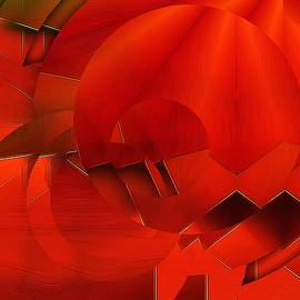 Gabriella Weninger - David - Abstract In OrangeRed