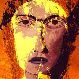 Rich  Ray Art - Abstract Portrait Of A Woman Named Dell
