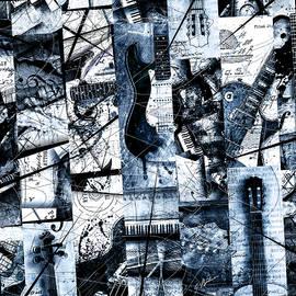 Gary Bodnar - Abstracta 35 Mosaic I Azure
