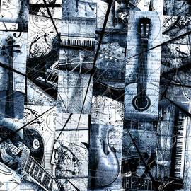 Gary Bodnar - Abstracta 35 Mosaic In Blue