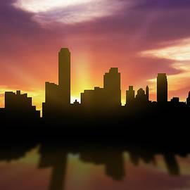 Adelaide Skyline Sunset AUAD22 - Aged Pixel