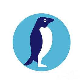 Aloysius Patrimonio - Adelie Penguin Circle Retro
