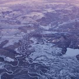 David Broome - Aerial Subarctic Winter Sunset