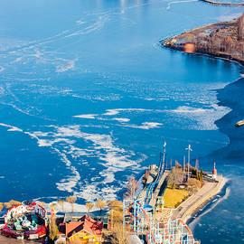 Jukka Heinovirta - Aerial View To The Fun Park And An Icy Lake
