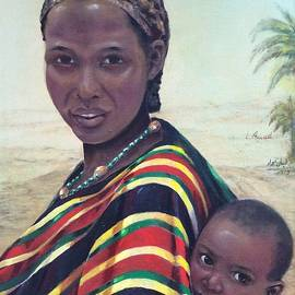 Laila Awad  Jamaleldin - African Mother and child