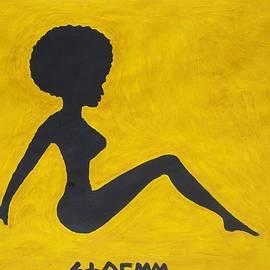 Stormm Bradshaw - Black Afro Ebony Sitting Nude