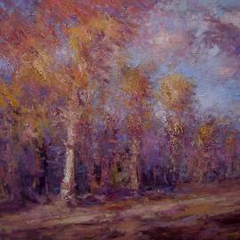 R W Goetting - Afternoon light on the trees