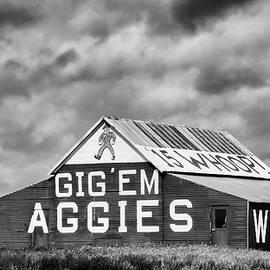 Stephen Stookey - Aggie Barn in BW