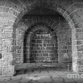 Carol Groenen - Akerhus Arches with Vignette - Black and White