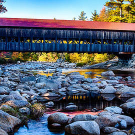 Jeff Folger - Albany covered Bridge reflection