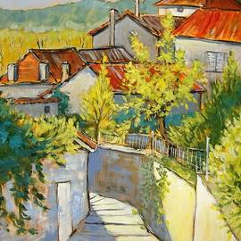 Cathy MONNIER - alley in Aubeterre