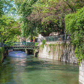 W Chris Fooshee - Along a Canal in Annecy