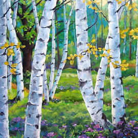 Richard T Pranke - Alpine flowers and birches
