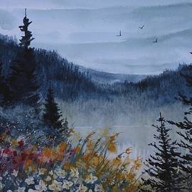 David K Myers - Alpine View, Watercolor Painting