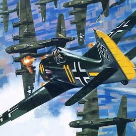 American bombing raid over Europe in July 1943 - Wilf Hardy