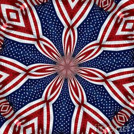Rose Santuci-Sofranko - American Flag Kaleidoscope Abstract 1