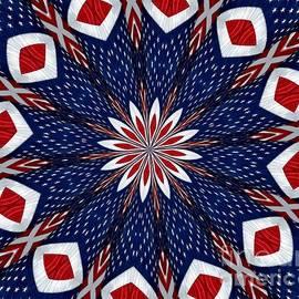 Rose Santuci-Sofranko - American Flag Kaleidoscope Abstract 2