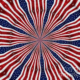 Rose Santuci-Sofranko - American Flag Kaleidoscope Abstract 6