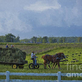 David Arment - Amish Family Putting up Hay