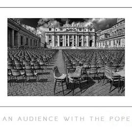 Mike Nellums - An Audience With the Pope BW poster