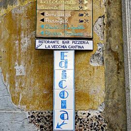 Richard Rosenshein - An Old Sign In Ravello Italy