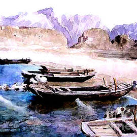 Merton Allen - Ancient Chinese Watercolor Painting - Guanting Reservoir