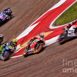 Blake Richards - Andrea Dovizioso Leads Marquez  Rossi Smith Lorenzo