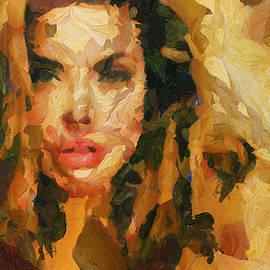 Sir Josef Putsche - Angelina Jolie - In The Woods - Painting