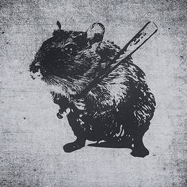 Philipp Rietz - Angry street art mouse  hamster baseball edit