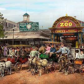 Mike Savad - Animal - Goats - Coney Island NY - Kid rides 1904