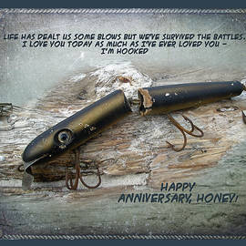 Mother Nature - Anniversary Greeting Card - Vintage Saltwater Fishing Lure