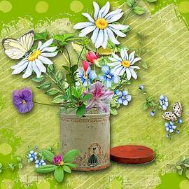 Larry Bishop - Antique Tin of Flowers