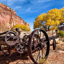 Kathleen Bishop - Antique Wagon in the Desert