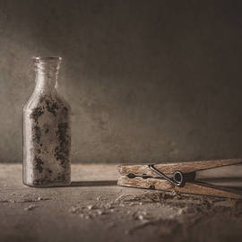 Apothecary Bottle and Clothes Pin - Scott Norris