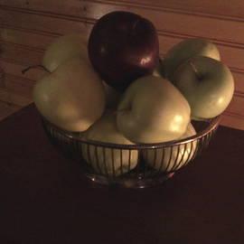 Cindy  Riley - Apples in Silver Basket