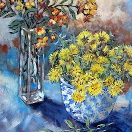 Cathy MONNIER - April Wallflowers And Dandelions