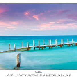 Aqua Waters Poster Print - Az Jackson