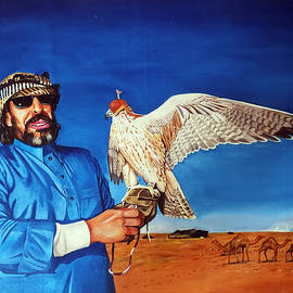 Arun Sivaprasad - Arab With An Portrait Eagle