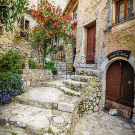 Liesl Walsh - Arched Cobblestone Stairway In Eze, France