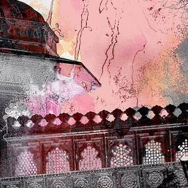 Sue Jacobi - Architecture Detail Red City Palace Udaipur Rajasthan India 1b