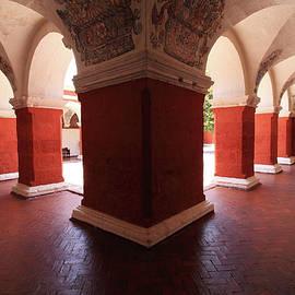 Aidan Moran - Archway Paintings At Santa Catalina Monastery